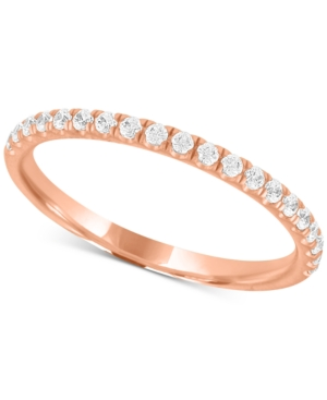 X3 Certified Diamond Wedding Band in 18k Gold, White Gold or Rose Gold (1/4 ct. t.w.), Created for Macy's
