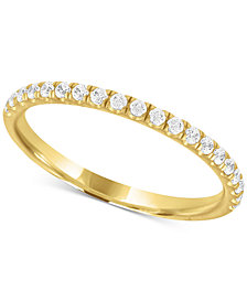 X3 Certified Diamond Wedding Band in 18k Gold (1/4 ct. t.w.), Created for Macy's