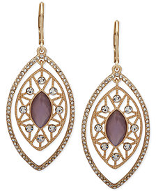 lonna & lilly Gold-Tone Crystal & Stone Orbital Drop Earrings