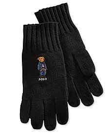 Polo Ralph Lauren Men's Jean Jacket Polo Bear Gloves