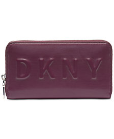 DKNY Zip Around Logo Wallet, Created for Macy's