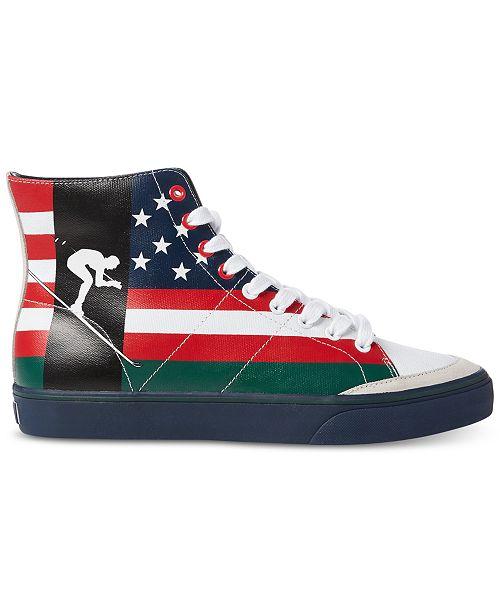 4ac3e5ca91db ... Polo Ralph Lauren Men s Solomon Flag-Print Sneakers