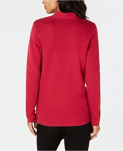 Fisher Front Eileen Angle Tencel® Cardigan Radish Fqd8Owg