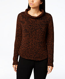 Eileen Fisher Long-Sleeve Funnel-Neck Sweater