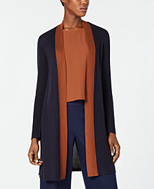 Eileen Fisher Long Colorblocked Cardigan, Regular & Petite
