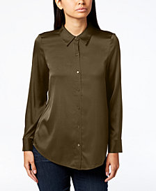 Eileen Fisher Point-Collar Shirt, Regular & Petite