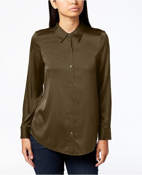 897ed675a2252 Point-Collar Shirt, Regular & Petite