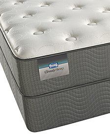 "ONLINE ONLY! BeautySleep 9.5"" Alpine Valley Luxury Firm Mattress Set- Queen Split"
