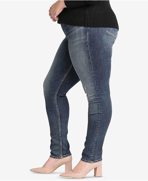 edf06ecc3f4 Silver Jeans Co. Plus Size Avery High-Rise Curvy-Fit Slim Jeans ...