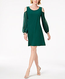 MSK Embellished Cold-Shoulder Cocktail Dress