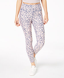 Calvin Klein Performance Lynx-Print High-Waist Ankle Leggings