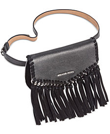 MICHAEL Michael Kors Pebble Leather & Suede Fringe Fanny Pack