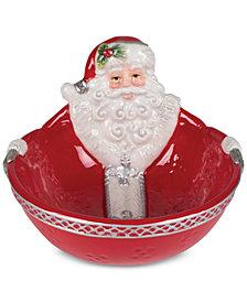 Fitz and Floyd Tartan Christmas Nut Dish
