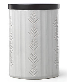 Lenox Alpine Carved Large Canister with Wood Lid