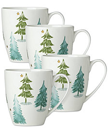 Lenox Balsam Lane Mugs, Set of 4