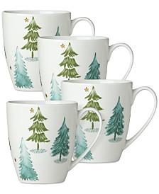 Lenox Balsam Lane Mugs, Set of 4