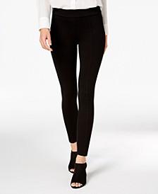 Petite Seamed Ponté-Knit Skinny Pants, Created for Macy's