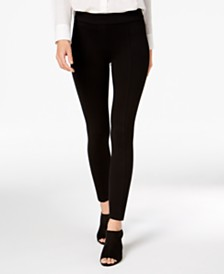 Style & Co Petite Seamed Ponté-Knit Skinny Pants, Created for Macy's