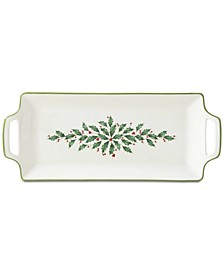 Holiday Handled Hors D'Oeuvre Tray