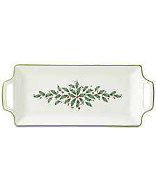 Lenox Holiday Handled Hors d'Oeuvre Tray