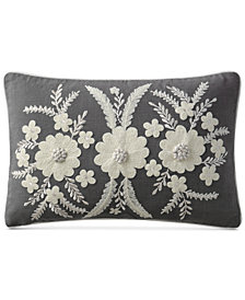 "VCNY Home Celine Embroidered 14"" x 20"" Decorative Pillow"
