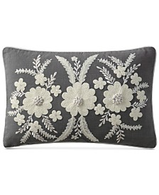 """VCNY Home Celine Embroidered 14"""" x 20"""" Decorative Pillow"""