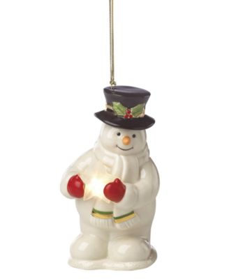Starry Lit Musical Snowman Ornament