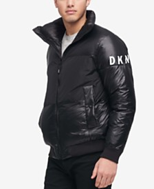 DKNY Men's Big & Tall Mixed-Media Puffer Jacket, Created for Macy's