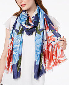 I.N.C. Painted Dusk Floral Wrap & Scarf in One, Created for Macy's