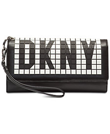 DKNY Tilly Tile Logo Wristlet, Created for Macy's