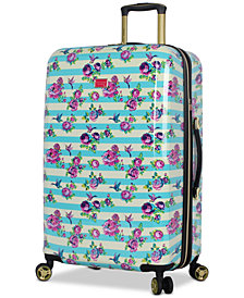 "Betsey Johnson Hummingbird 26"" Hardside Expandable Spinner Suitcase"