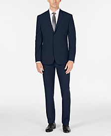 Premium Men's Slim-Fit Stretch Tech Suit, Machine Washable
