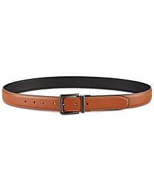 Perry Ellis Men's Tumbled Reversible Leather Belt