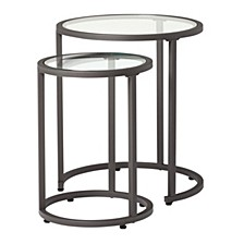 Camber Glass Nesting Tables, Set of 2