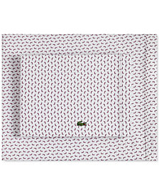 Lacoste Printed Cotton Percale King Sheet Set