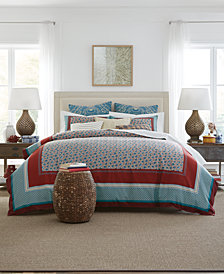 Tommy Hilfiger Prairie Cotton Reversible 3-Pc. Patchwork Full/Queen Duvet Cover Set