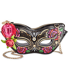 Betsey Johnson Masquerade Mask Crossbody