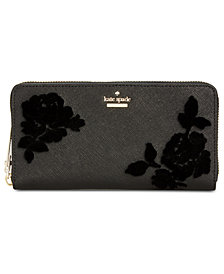 kate spade new york Cameron Street Flocked Roses Lacey Wallet