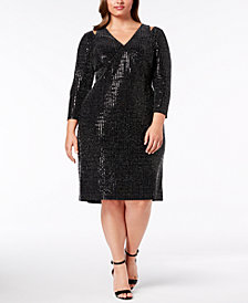Calvin Klein Plus Size Sequin Sheath Dress
