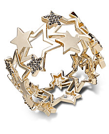 Thalia Sodi Gold-Tone Pavé Star Stretch Bracelet, Created for Macy's