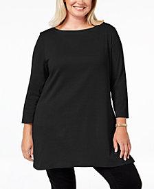 Karen Scott Plus Size Cotton Tunic Top Created For Macys
