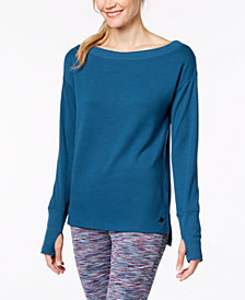 Ideology Boat-Neck Long-Sleeve T-Shirt, Created for Macy's