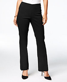 I.N.C. Slit-Front Pull-On Bootcut Pants, Created for Macy's
