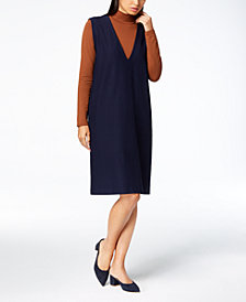 Eileen Fisher Mock-Neck Top & V-Neck Dress
