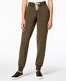 Hippie Rose Juniors' Lace-Up Jogger Pants