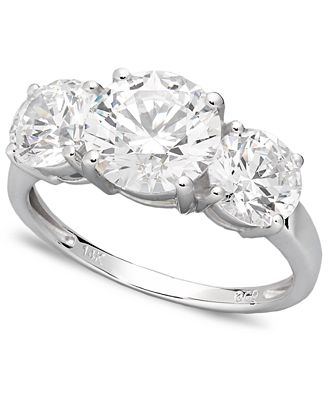 swarovski wedding rings arabella 14k white gold ring swarovski zirconia three 7858