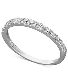 14k White or Yellow Gold Ring, Swarovski Zirconia Wedding Band (1 ct. t.w.)