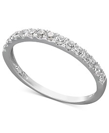 Arabella 14k White or Yellow Gold Ring, Swarovski Zirconia Wedding Band (1 ct. t.w.)