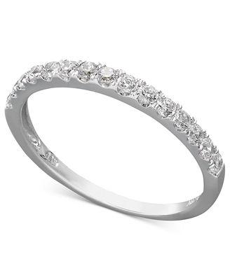 Arabella 14k Gold Ring Swarovski Zirconia Wedding Band 1 ct