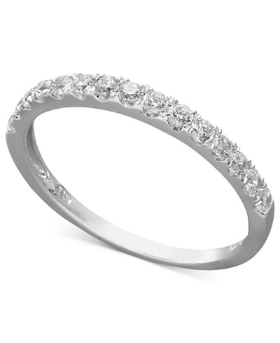 Arabella 14k Gold Ring Swarovski Zirconia Wedding Band 1 Ct Tw